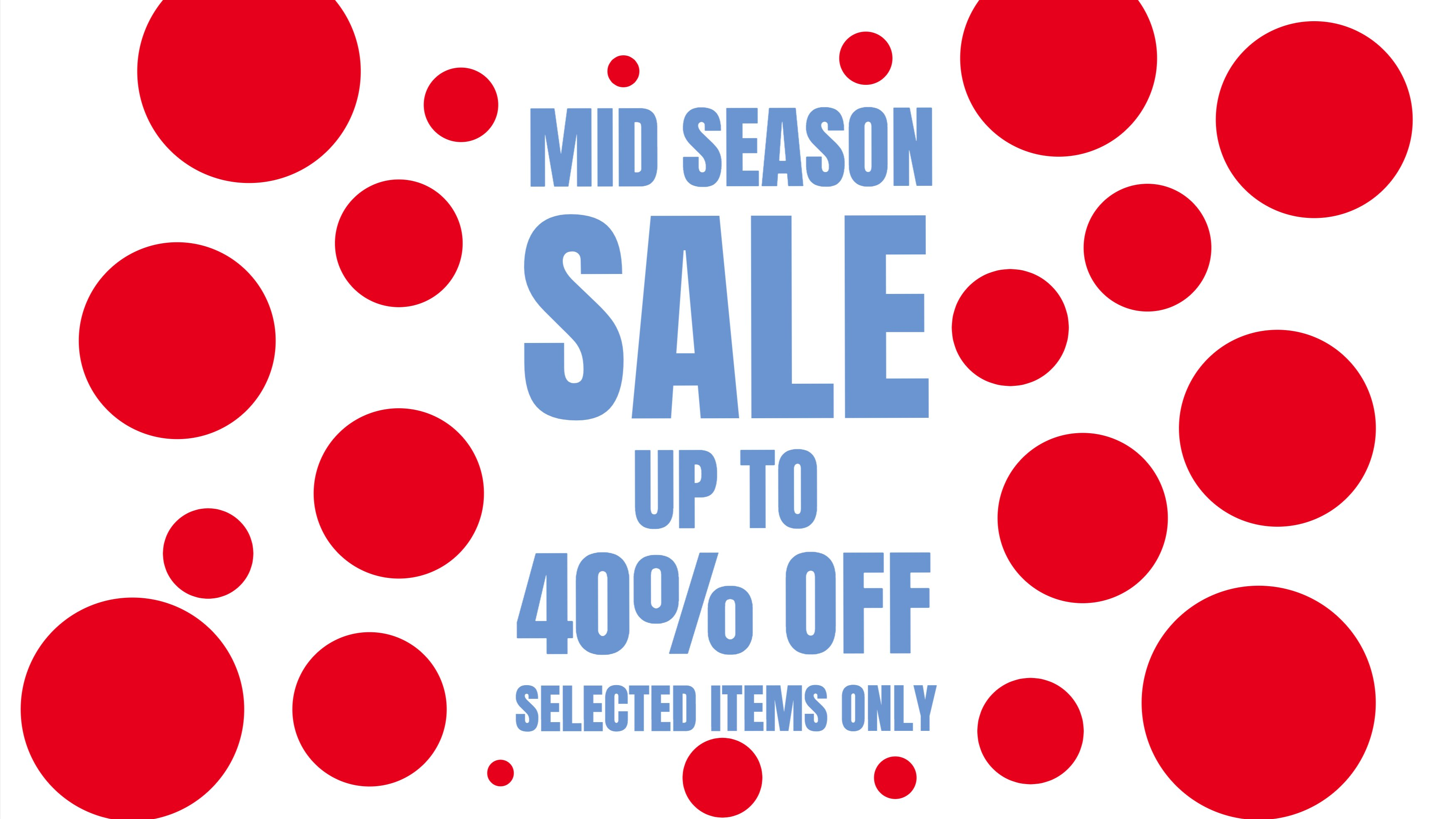 Mid Season Sale slide, HTML5 Animated Graphics